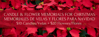 Christmas Memorial Flowers & Candles