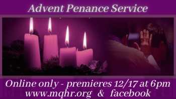Advent Penance Service in English
