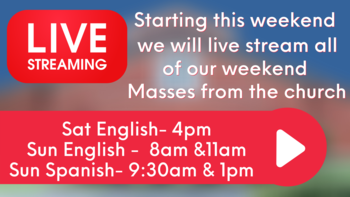All Masses & Liturgies will now be live-streamed