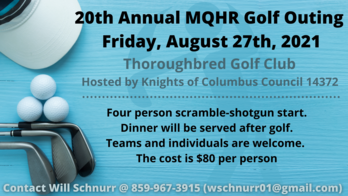 20th Annual K of C Golf Outing August 27th
