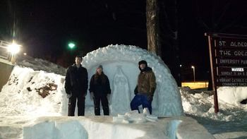 St. Al's Wins All-Nighter Snow Statue Contest!