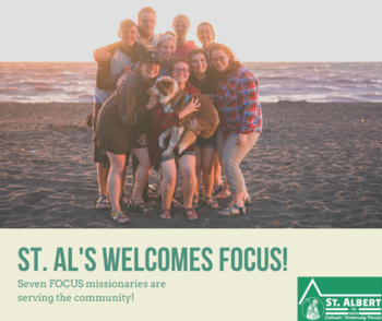 St. Al's Welcomes 9 FOCUS Missionaries!
