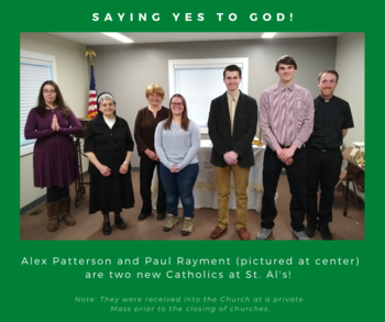 Two Students Welcomed to the Faith
