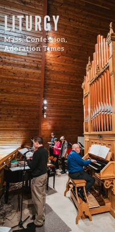 Liturgical music being played on the organ at St. Al's.