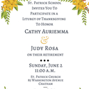 Retirement Liturgy in Honor of Miss A and Miss Rosa
