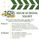 High School Night Open to All Area Students