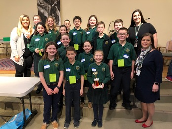St. Patrick Students Take 2nd Place in the Brain Bowl