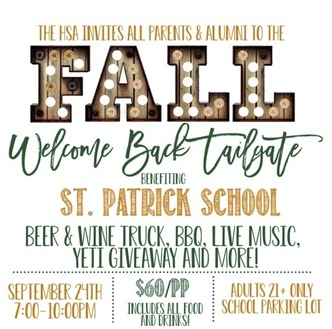 Join Us at HSA Welcome Back to Tailgate Event on September 24