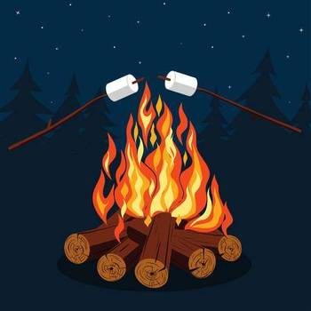 Image result for bonfire and smores