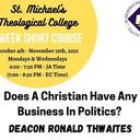 Does A Christian Have Any Business In Politics?  (Monday Class)