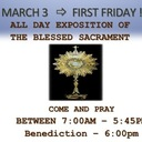 March 3 - First Friday
