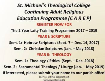 St. Michael's Theological College - Continuing Adult Religious Education Programme (CAREP)