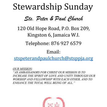 STEWARDSHIP FAIR WITH MINISTRY DISPLAYS