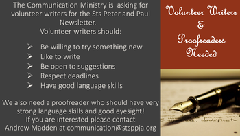 THE COMMUNICATION MINISTRY NEEDS WRITERS