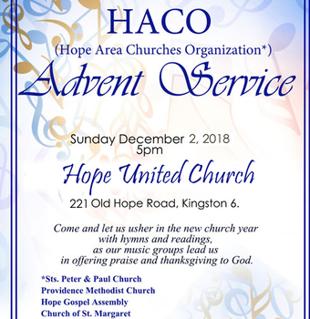 HACO (Hope Area Churches Organization) ADVENT SERVICE