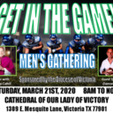 Get In The Game! Men's Gathering will continue virtually