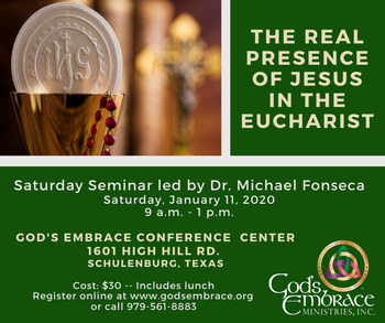 The Real Presence of Jesus in the Eucharist Seminar