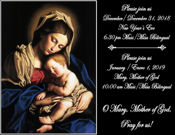 Mary, Mother of God Mass/Misa Bilingual