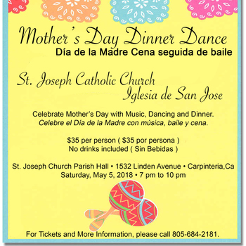 Mother's Day Dance - Día de la Madre Cena seguida de baile