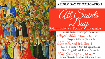 Vigil Mass All Saints Day