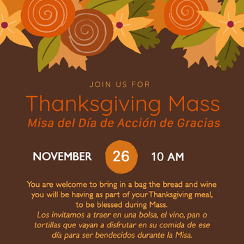 Thanksgiving Mass