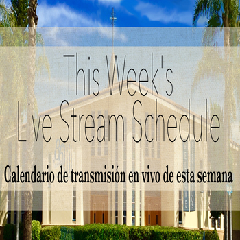 This Week's Live Stream Schedule