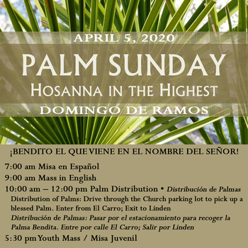 April 5, 2020 • Palm Sunday! Domingo de Ramos!