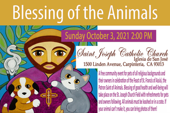 Blessing of the Animals • October 3, 2021 @ 2PM