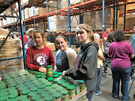 Youth Serving at Houston Food Bank