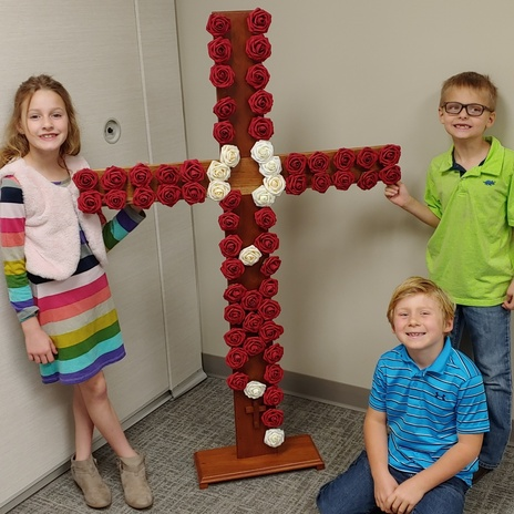Our Rosary Cross is complete!