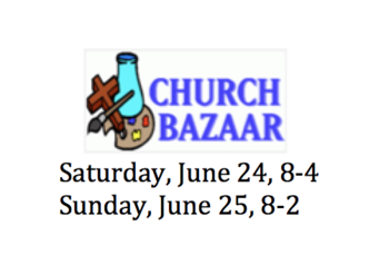 CHURCH BAZAAR - Thank You!