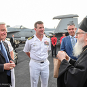 Archbishop Demetrios of America Visits USS TRUMAN