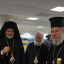 Archbishop Chrysostomos II of Cyprus Visits Holy Trinity, Charlotte