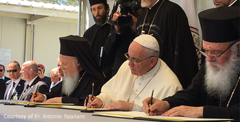 Joint Statement by Pope Francis, Ecumenical Patriarch Bartholomew, & Archbishop Ieronymos