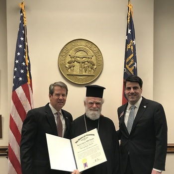 His Eminence celebrates Greek Independence Day 2018 at the Georgia State Capitol