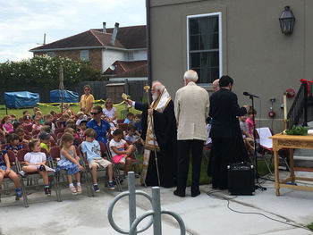His Eminence Blesses the Expansion of Holy Trinity Cathedral (New Orleans) Montessori School