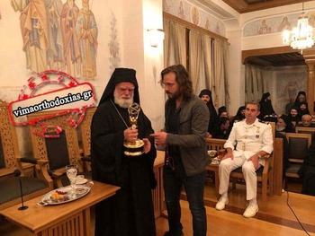 Actor Jonathan Jackson Offers His Emmy Award to Vatopaidi Monastery