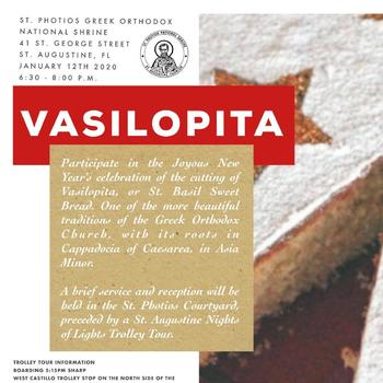 Saint Photios Greek Orthodox National Shrine Vasilopita Celebration