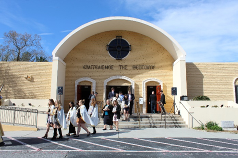 Atlanta Handmaidens participating in the Sunday of Orthodoxy Procession
