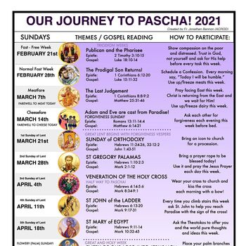 Our Journey to Pascha