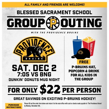 Providence Bruins- Blessed Sacrament Discount Night