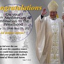 Bishop Peter Baldacchino celebrates the 25th Anniversary of his Ordination to the Priesthood