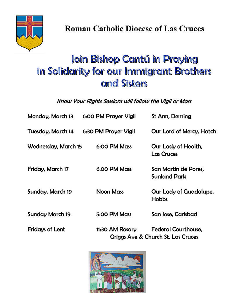 Prayer Vigil and Mass Schedule
