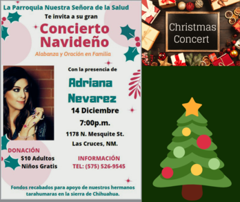 Our Lady of Health Parish Presents a Christmas Concert with Adriana Nevarez