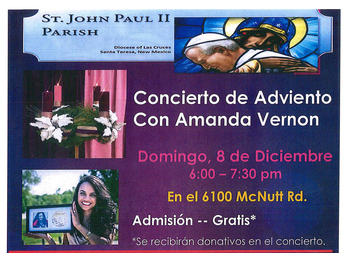 St. John Paul II Parish Advent Concert by Amanda Vernon