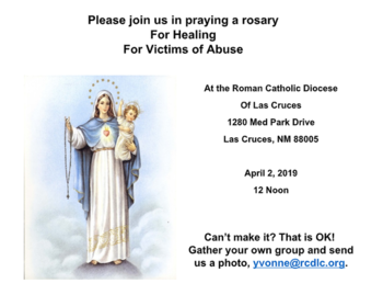 Join Us In Praying A Rosary For Healing For Victims of Abuse