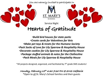 Hearts of Gratitude Service Night