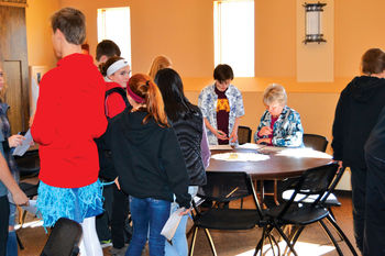 SMS students learn about poverty during simulation