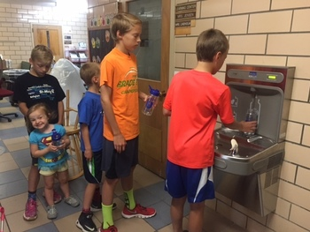 WATER BOTTLE STATIONS!!