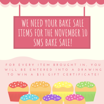 Bake Sale Items Needed